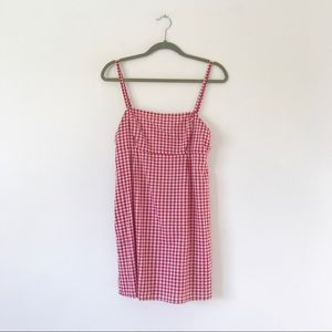 Urban Outfitters Red Gingham Dress